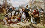 The First Thanksgiving by Jean Leon Gerome Ferris (1863–1930)