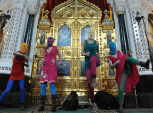 "Protest ""Punk Prayer"" in Moscow Church"