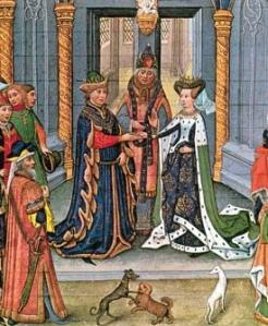 Teutberga marries Lothair II