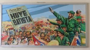 """Batista Flees"" reads the poster"