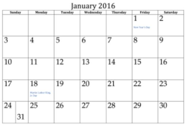 Calendar Split
