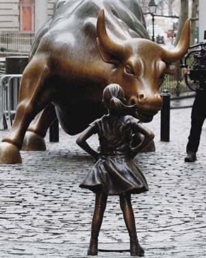 Little Girl vs Wall Street